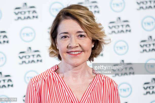 Spanish actress Maria Pujalte attends the 'Vota Juan' photocall at Palace Hotel on June 14 2018 in Madrid Spain