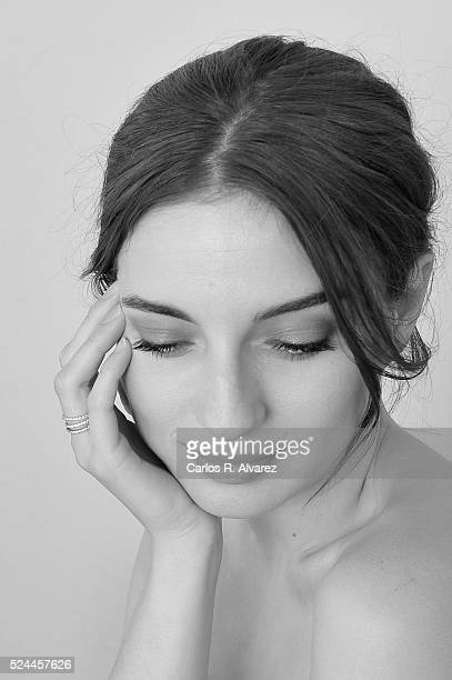 Spanish actress Maria Valverde poses for a portrait session at the Malaga Palacio Hotel during the 19th Malaga Film Festival on April 26, 2016 in...
