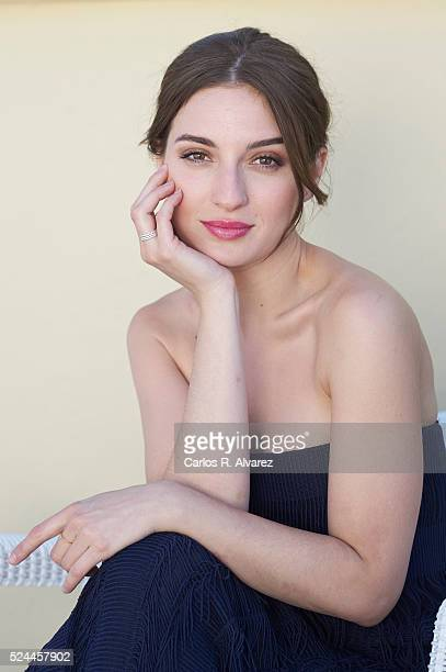 Spanish actress Maria Valverde poses for a portrait session at the Malaga Palacio Hotel during the 19th Malaga Film Festival on April 26 2016 in...