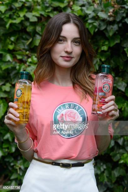 Spanish Actress Maria Valverde presents Herbal Essences Classic Collection in Madrid on June 11, 2014 in Madrid, Spain.