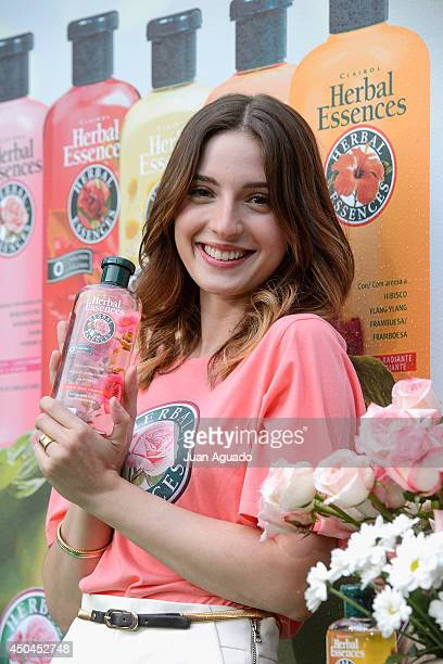 Spanish Actress Maria Valverde presents Herbal Essences Classic Collection in Madrid on June 11 2014 in Madrid Spain