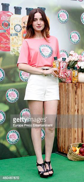 Spanish Actress Maria Valverde presents Herbal Essences Classic Collection on June 11 2014 in Madrid Spain