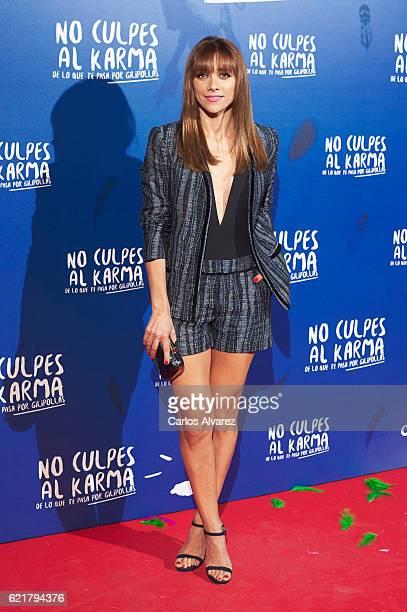 Spanish actress Mariam Hernandez attends 'No Culpes al Karma De lo Que Te Pasa Por Gilipollas' premiere at Callao cinema on November 8 2016 in Madrid...