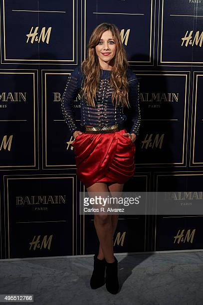 Spanish actress Mariam Hernandez attends the Balmain and HM Collection launch party at the Neptuno Palace on November 3 2015 in Madrid Spain