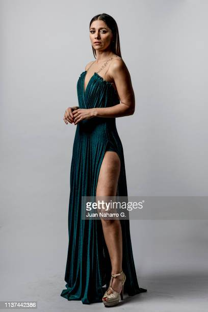 Spanish actress Mariam Hernandez poses for a portrait session at Teatro Cervantes during 22nd Spanish Film Festival of Malaga on March 21 2019 in...
