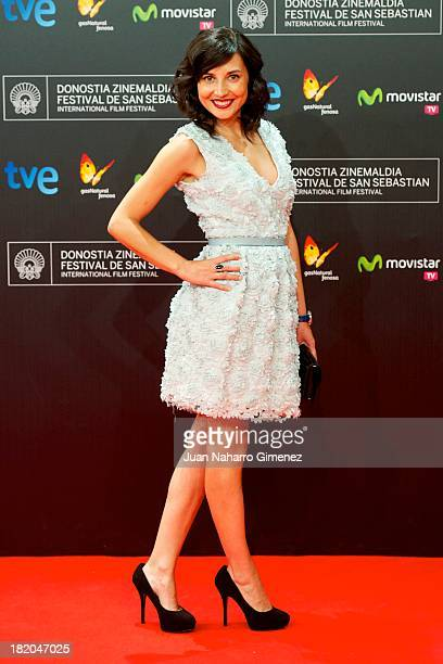 Spanish actress Marian Alvarez attends 'La Herida' premiere at Kursaal during 61st San Sebastian Film Festival on September 27, 2013 in San...