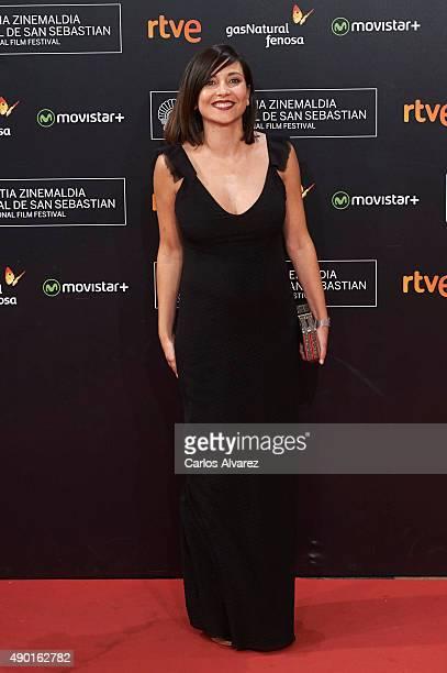 Spanish actress Marian Alvarez attends the closing ceremony red carpet of the 63rd San Sebastian International Film Festival at the Kursaal Palace on...
