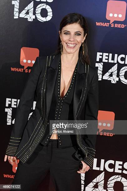 Spanish actress Maribel Verdu attends Felices 140 premiere at the Capitol cinema on April 9 2015 in Madrid Spain