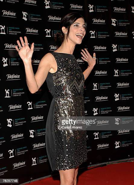 Spanish actress Maribel Verdu attends the 54th ONDA Awards ceremony on December 04 2007 at the Liceo Theatre in Barcelona Spain