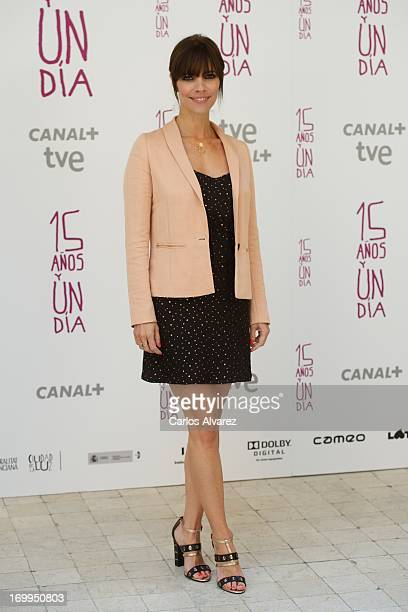 Spanish actress Maribel Verdu attends the Quince Anos Y Un Dia photocall at the Intercontinental Hotel on June 5 2013 in Madrid Spain