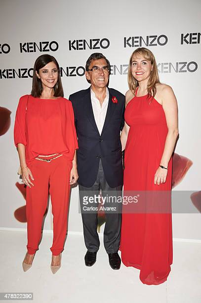 Spanish actress Maribel Verdu Juan Pedro Abeniacar and Kenzo director Adeline Vidal attend the Kenzo summer party at the Giner de los Rios Foundation...