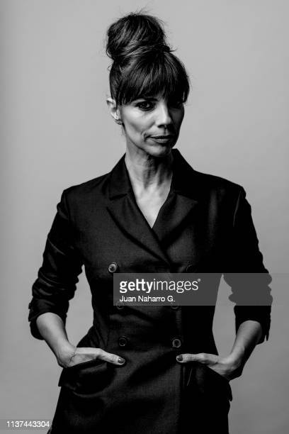 Spanish actress Maribel Verdu poses for a portrait session at Teatro Cervantes during 22nd Spanish Film Festival of Malaga on March 21 2019 in Malaga...