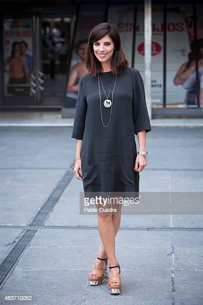 Spanish actress Maribel Verdu presents 'Sin Hijos' at Princesa Cinema on August 12 2015 in Madrid Spain