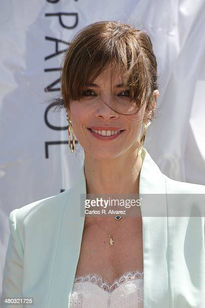 Spanish actress Maribel Verdu receives the Malaga Sur award 2014 during the 17th Malaga Film Festival 2014 Day 4 on March 24 2014 in Malaga Spain