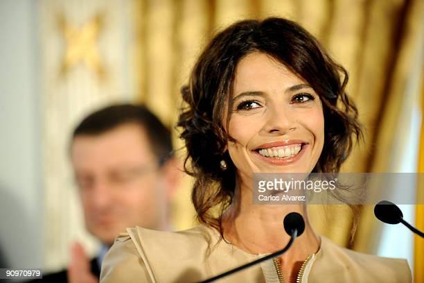 Spanish actress Maribel Verdu receives the National Cinematography Award at Hotel Maria Cristina on September 19 2009 in San Sebastian Spain