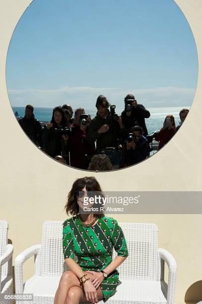 Spanish actress Maribel Verdu receives the 'Premio Belleza Comprometida de L'Oreal Professionnel 2017 on day 7 of the 20th Malaga Film Festival at...