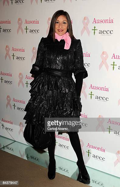 Spanish actress Mariola Fuentes attends Ausonia Campaign Against Breast Cancer Launch on January 20 2009 at the Shoko Club in Madrid