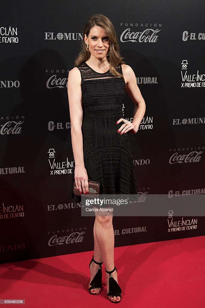Spanish actress Mariona Tena attends the 10th Valle-Inclan Theatre awards at the Royal Theatre on April 11, 2016 in Madrid, Spain.