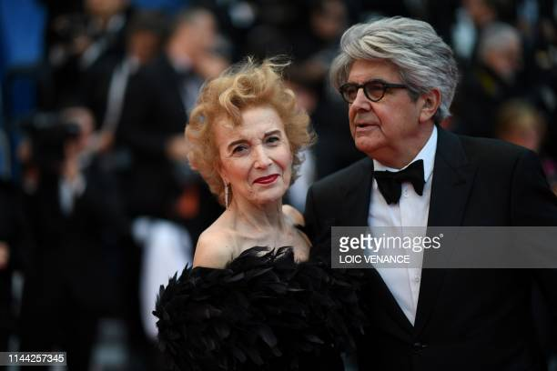 Spanish actress Marisa Paredes and Spanish photographer Chema Prado arrive for the screening of the film Dolor Y Gloria at the 72nd edition of the...