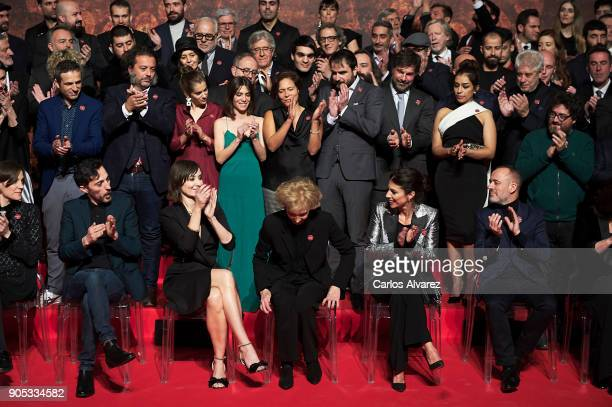 Spanish actress Marisa Paredes attends a photo family as the Spanish Cinema Academy announced her to be the winner of the honorary Goya cinema award...