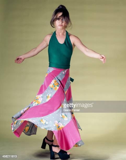 Spanish actress Marisol during a photo shoot in a studio Madrid Castilla La Mancha Spain
