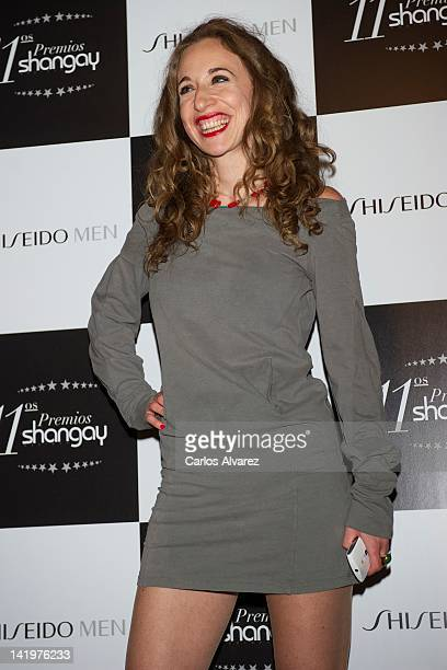 Spanish actress Marta Aledo attends Shangay awards 2012 at Calderon Theater on March 27 2012 in Madrid Spain