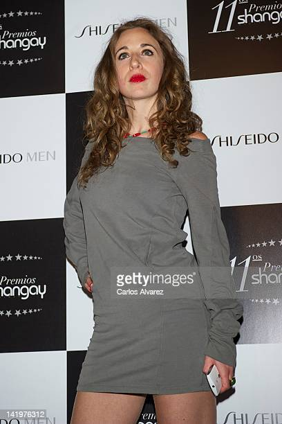 "Spanish actress Marta Aledo attends ""Shangay"" awards 2012 at Calderon Theater on March 27, 2012 in Madrid, Spain."
