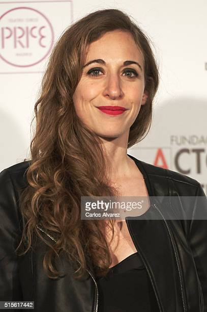 Spanish actress Marta Aledo attends the Union de Actores awards 25th anniversary at the Circo Price on March 14, 2016 in Madrid, Spain.