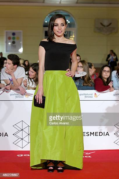 Spanish actress Marta Castellote attends the Amor en su Punto premiere during the 17th Malaga Film Festival at the Cervantes Theater on March 23 2014...