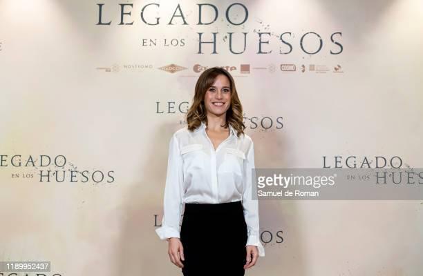 spanish actress Marta Etura attends Legado En los Huesos Madrid Photocall on November 25 2019 in Madrid Spain