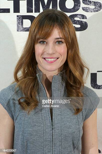 Spanish actress Marta Etura attends the Los Ultimos Dias photocall on March 19 2013 in Madrid Spain