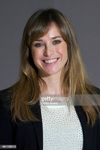 """Spanish actress Marta Etura attends the """"Presentimientos"""" photocall at the Princesa cinema on January 21, 2014 in Madrid, Spain."""
