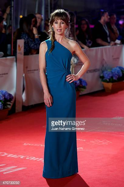 Spanish actress Marta Etura attends the 'Sexo Facil, Peliculas Tristes' premiere at the Cervantes Theater during the 18th Malaga Film Festival on...