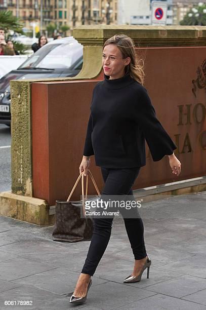 Spanish actress Marta Etura is seen arriving at Maria Cristina Hotel during 64th San Sebastian International Film Festival on September 16, 2016 in...