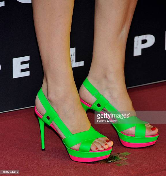 Spanish actress Marta Hazas attends 'Lope' premiere at Capitol Cinema on September 1 2010 in Madrid Spain