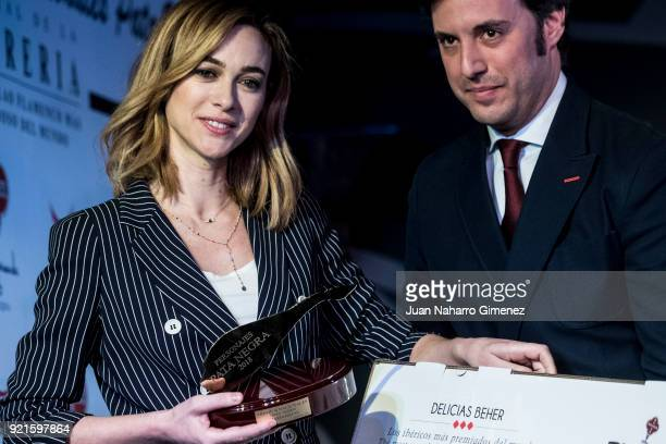 Spanish actress Marta Hazas attends 'Pata Negra' awards 2018 at Corral de la Moreria restaurant on February 20 2018 in Madrid Spain