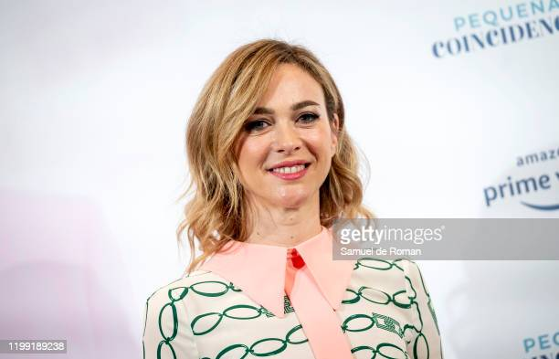 Spanish actress Marta Hazas attends Pequeñas Coincidencias Amazon Prime Video Madrid Photocall on January 13 2020 in Madrid Spain