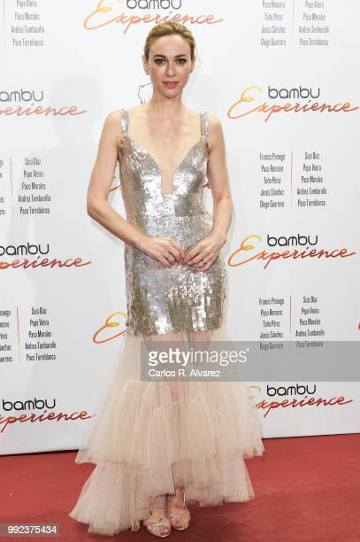 Spanish actress Marta Hazas attends the Bambu 10th anniversary party at Gran Maestre Theater on July 5 2018 in Madrid Spain