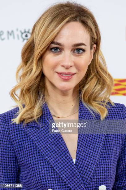 Spanish actress Marta Hazas attends the Jose Maria Forque awards 2019 finalists announcement at Dore cinema on November 30 2018 in Madrid Spain