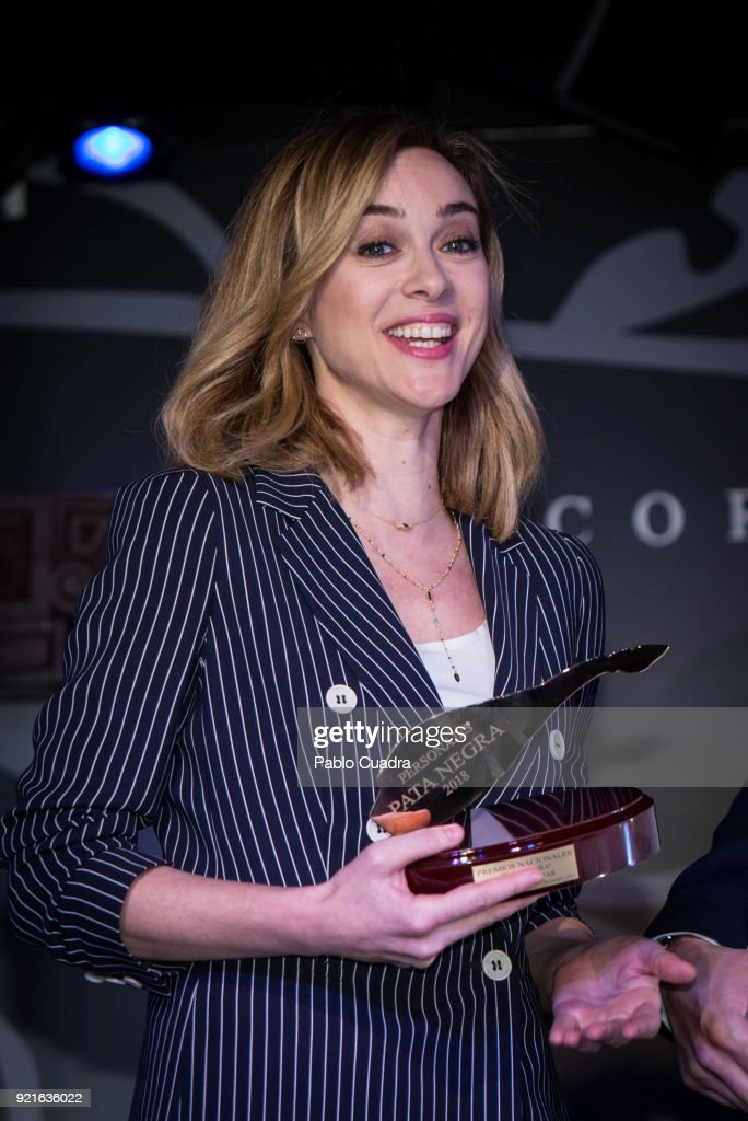 Spanish actress Marta Hazas attends the 'Pata Negra' awards at the Corral de la Moreria club on February 20, 2018 in Madrid, Spain.