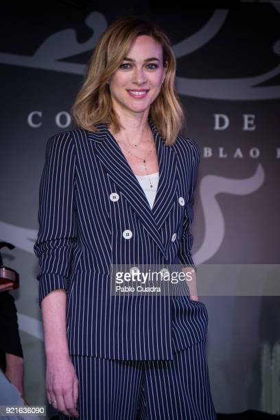 Spanish actress Marta Hazas attends the 'Pata Negra' awards at the Corral de la Moreria club on February 20 2018 in Madrid Spain