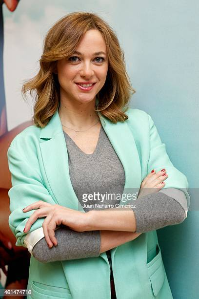 Spanish actress Marta Hazas attends the presentation of the official cosmetic for Goya Awards 'Germanine de Capuccine' at Academia de Cine on January...
