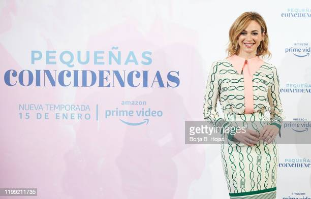 Spanish actress Marta Hazas attends to photocall of 'Pequeñas Coincidencias' Season 2 on January 13 2020 in Madrid Spain