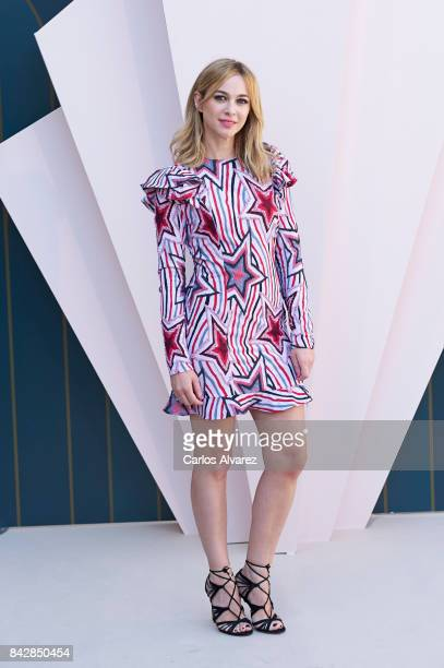 Spanish actress Marta Hazas attends 'Velvet Colecction' photocall at the Escoriaza Esquivel Palace during the FesTVal 2017 on September 5 2017 in...