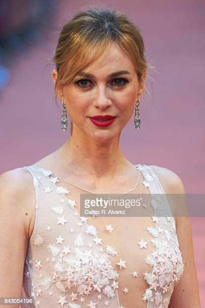 Spanish actress Marta Hazas attends 'Velvet Colecction' premiere at the Principal Teather during the FesTVal 2017 on September 5 2017 in...