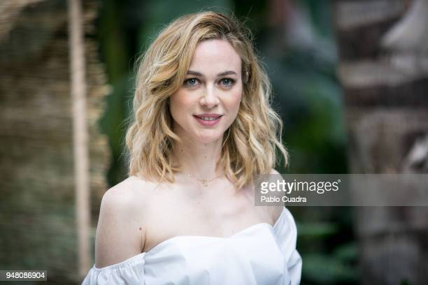 Spanish actress Marta Hazas presents Merkal collection at Atocha greenhouse on April 18 2018 in Madrid Spain