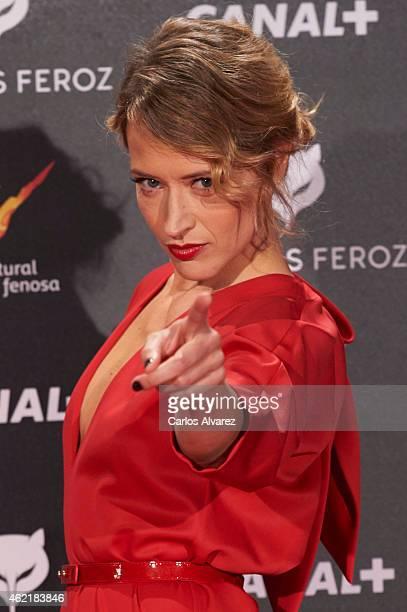 Spanish actress Marta Larralde attends the 'Feroz' Cinema Awards 2015 at Gran Teatro Ruedo Las Ventas on January 25 2015 in Madrid Spain