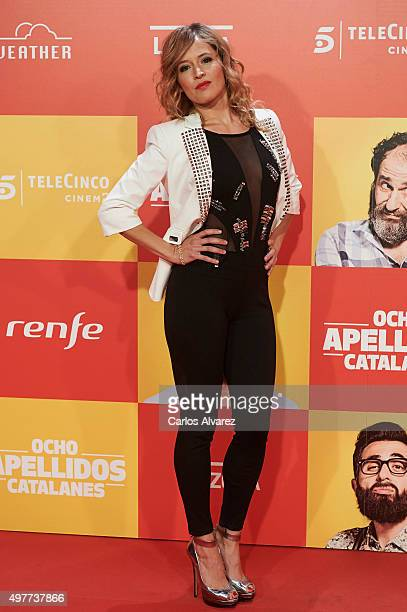 Spanish actress Marta Larralde attends the 'Ocho Apellidos Catalanes' premiere at the Capitol cinema on November 18 2015 in Madrid Spain