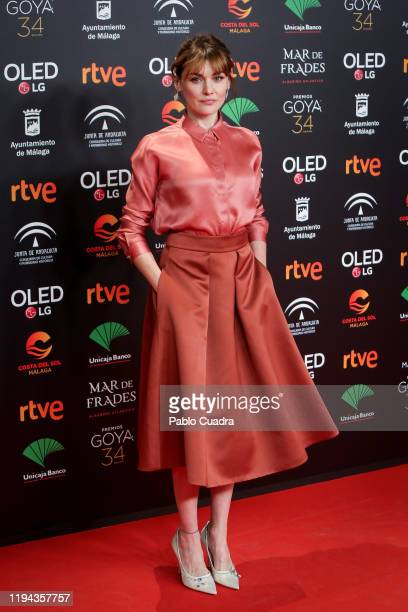 Spanish actress Marta Nieto attends the Candidates to Goya Cinema Awards party at Florida Retiro on December 16 2019 in Madrid Spain