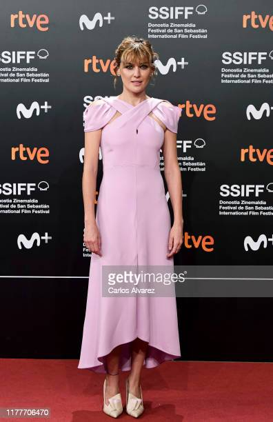 Spanish actress Marta Nieto attends the red carpet on the closure day of 67th San Sebastian International Film Festival on September 28, 2019 in San...